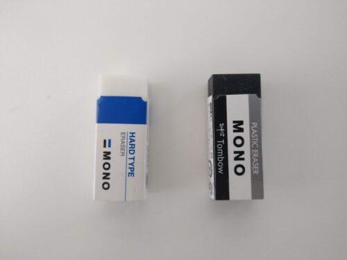 白と黒の消しゴム比較