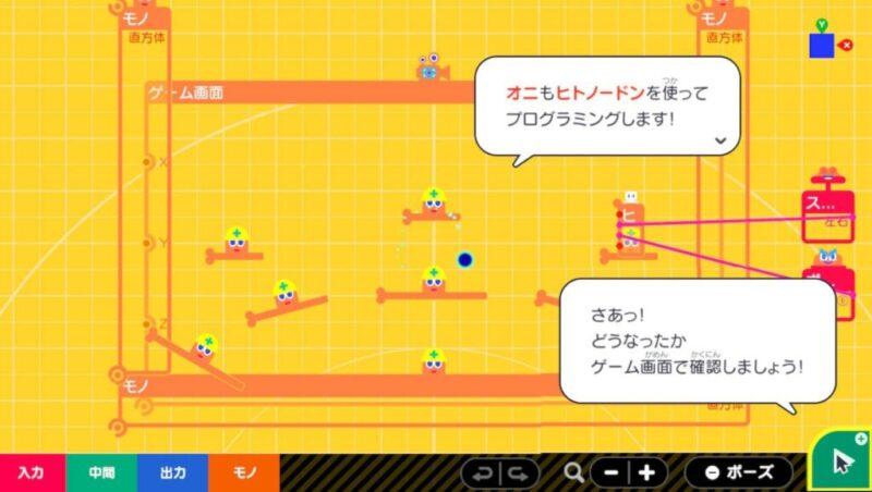 裏のプログラミング画面