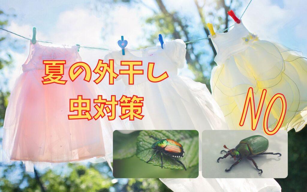 夏の外干し 虫対策